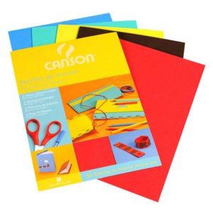 CANSON 20X29CM COLOURED FOAM SHEETS X5