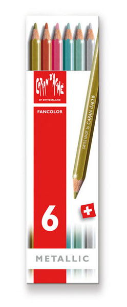 CARAN FANCOLOR METALLIC PENC X6
