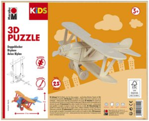 3D PUZZLE BI-PLANE