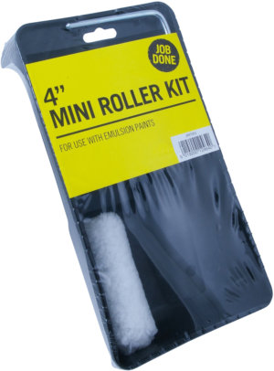 RODO MINI ROLLER KIT 4IN+TRAY