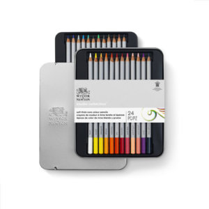 STUDIO COLOUR PENCIL TIN SET X24