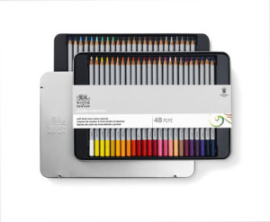 STUDIO COLOUR PENCIL TIN SET X48