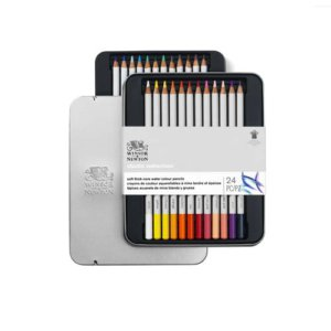 STUDIO W/COLOUR PENCIL TIN SET X24