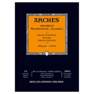 ARCHES A3 300G WC PAD RGH WHITE