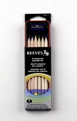 RVS COLOUR PENCILS TIN N/A