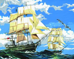 PBN 1 SAILING SHIPS ARTIST CANVAS