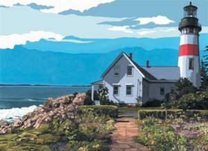 PBN 5 THE LIGHT HOUSE ARTIST CANVAS